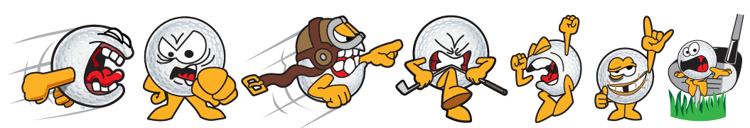 Funny Golf Cartoons Of Gus The Golf Ball