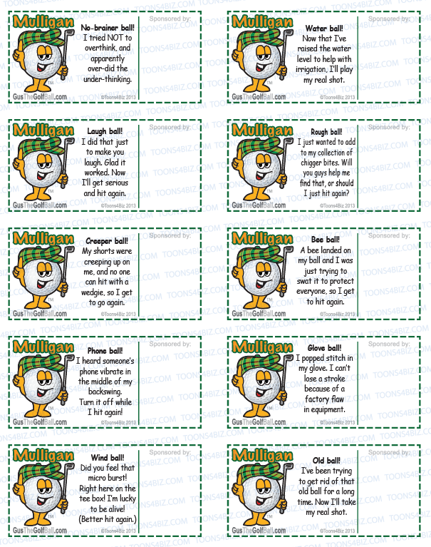 Golf Mulligan Tickets and Mulligan Coupon Templates – Ball Ticket Template