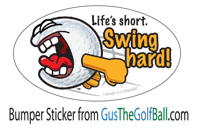 Funny Cartoon Golf Bumper Sticker